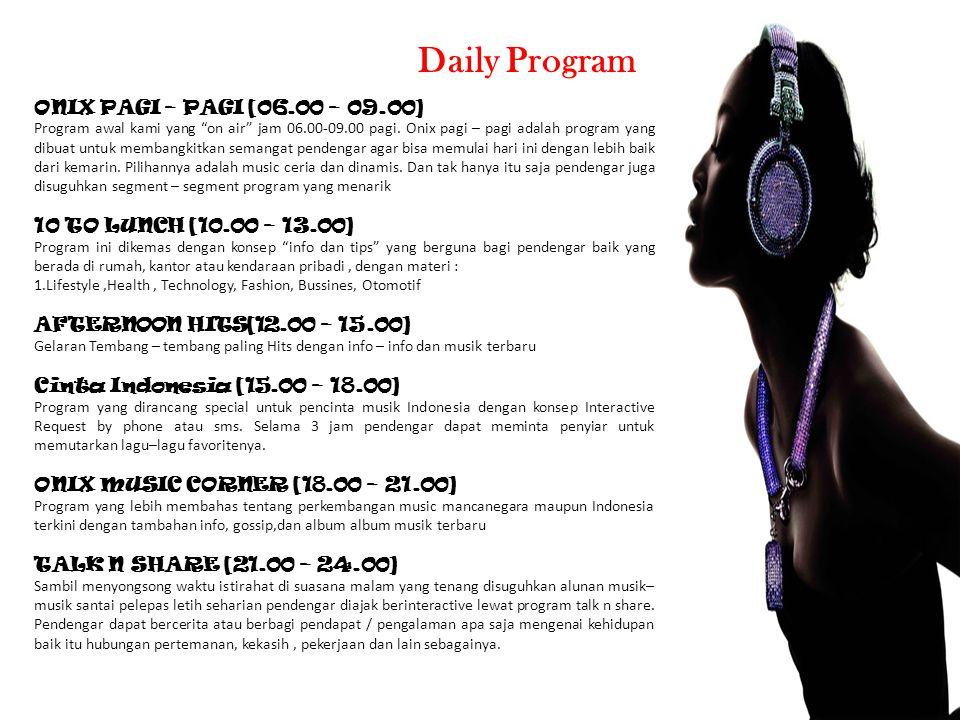 Daily Program ONIX PAGI – PAGI [06.00 – 09.00]